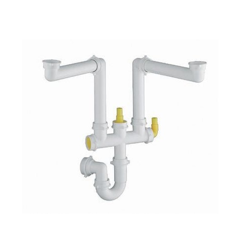 kit space saving type pipework kit suitable for 1 5 and two bowl sink