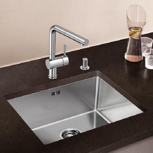 Blanco Top Mount Kitchen Sinks : Blanco Quarta Ten 450-U Undermount Stainless Steel Kitchen Sink