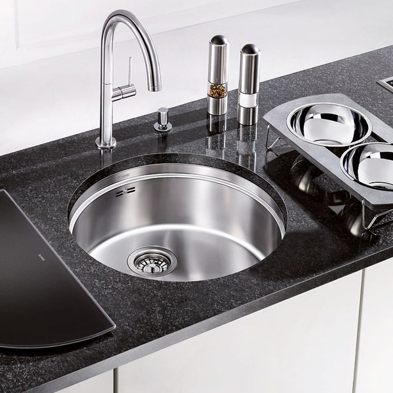 ... stainless steel sink the ronis is a smart looking round kitchen sink