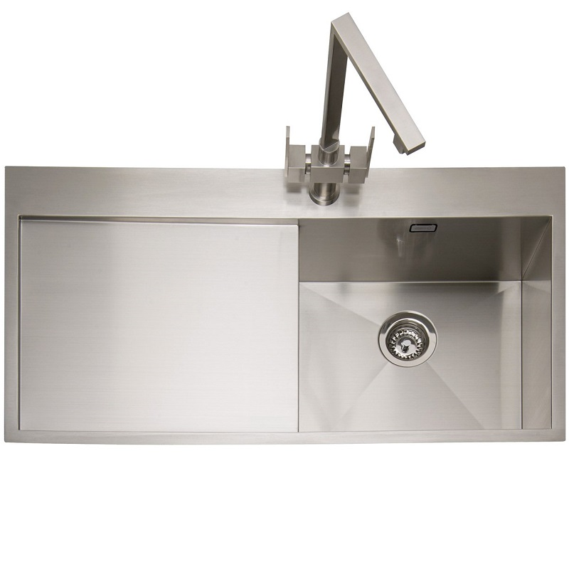Single Stainless Steel Sink : Caple Cubit 100 Stainless Steel Single Bowl Inset Kitchen Sink