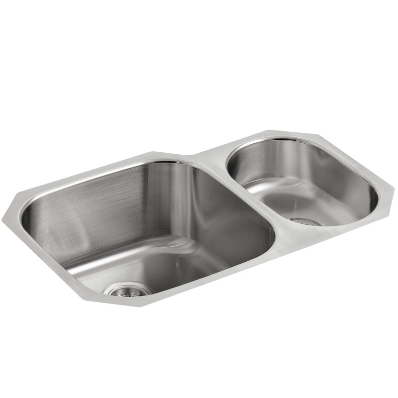 Kohler Icerock Stainless Steel One And A Half Bowl Kitchen