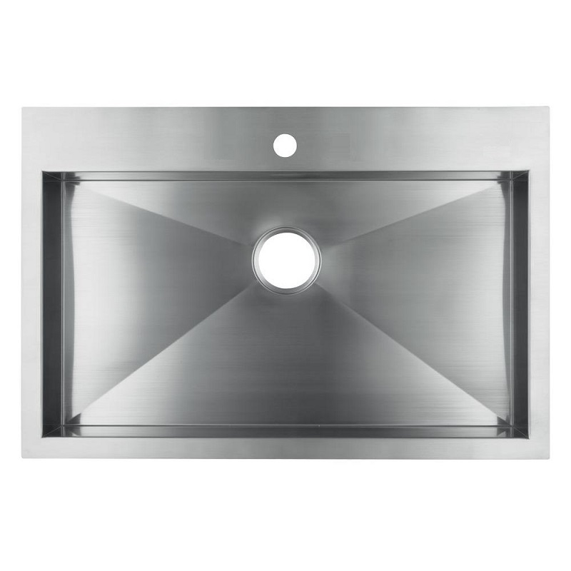 Stainless Steel Single Bowl Kitchen Sink : Kohler Vault 3821-1-NA Single Bowl Stainless Steel Kitchen Sink