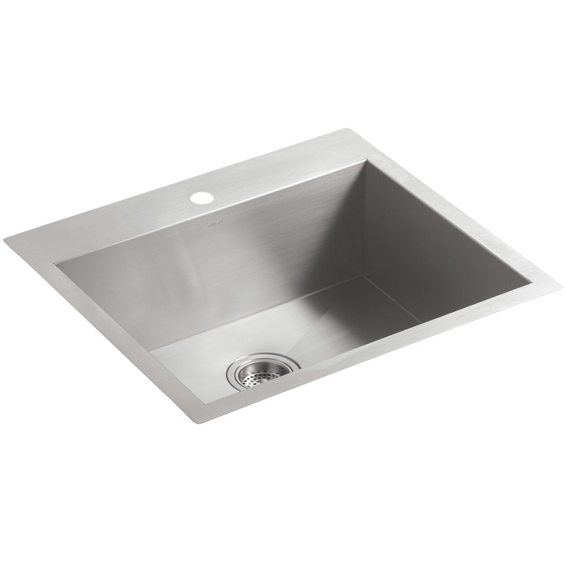 Kohler Vault Sink : Kohler Vault 3822-1-NA Medium Stainless Steel Kitchen Sink