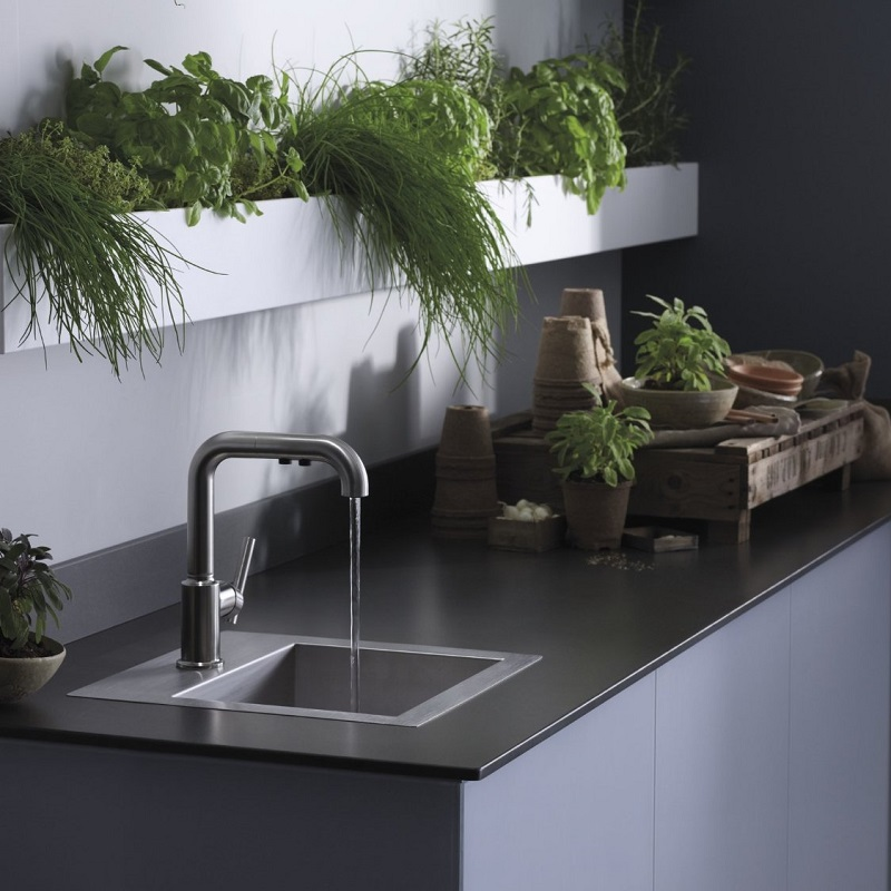 Small Kitchen Sinks Stainless Steel : ... sized as a prep sink or as a bar sink in an entertainment area this
