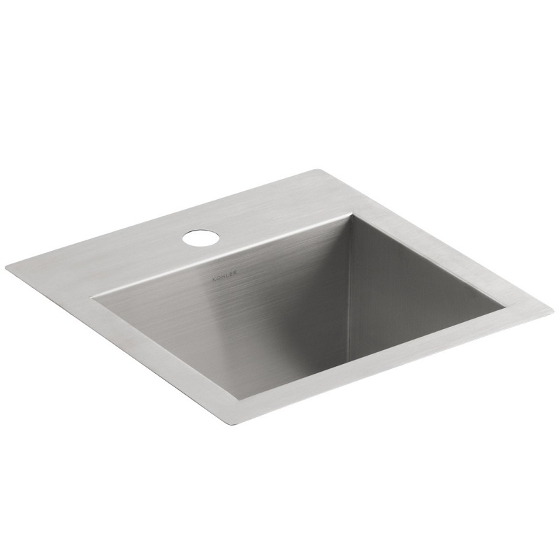 Kohler Vault Sink : Kohler Vault 3840-1-NA Small Stainless Steel Kitchen Sink