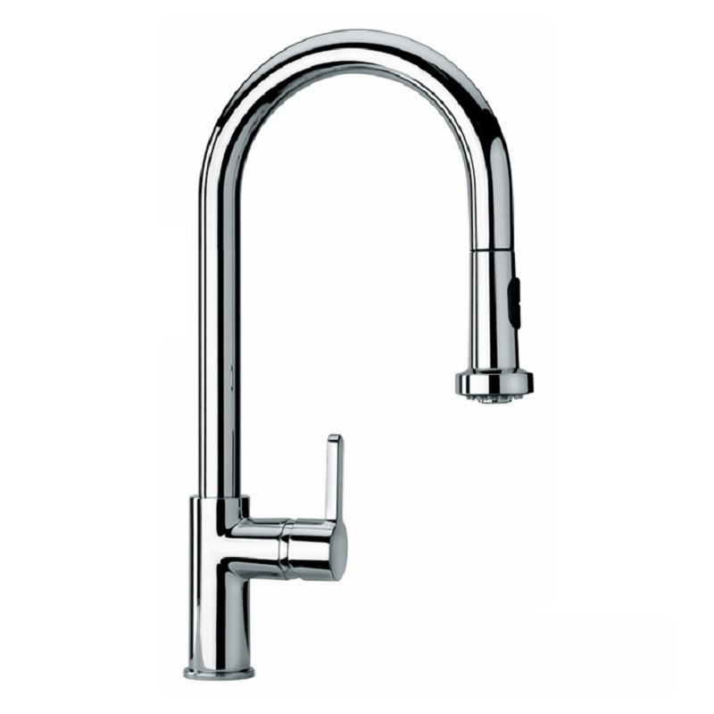 Black Kitchen Taps Only: Paini Arena Monobloc Pull-Out Kitchen Tap