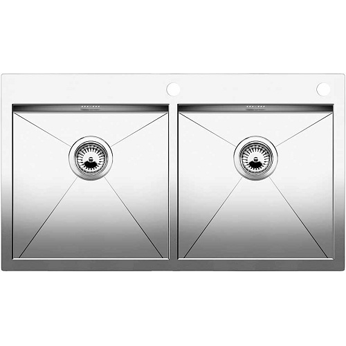 Blanco Zerox 400/400 IF/A Double Bowl Stainless Steel Sink