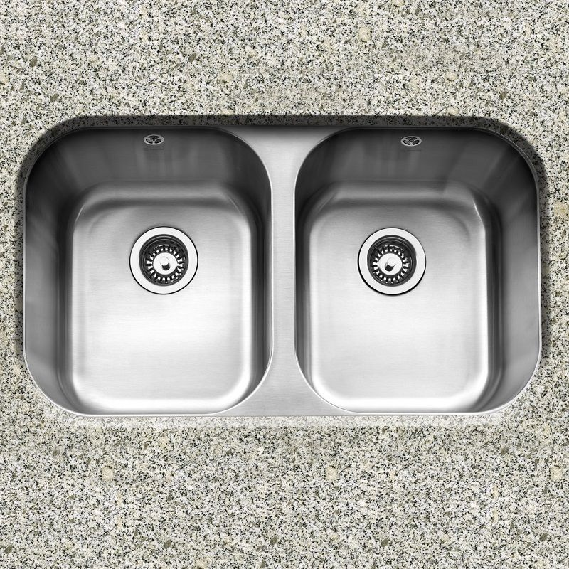 caple-form-3636-double-bowl-stainless-steel-undermount-kitchen-sink -1825-p.jpg & Caple Form 3636 Double Bowl Stainless Steel Undermount Kitchen Sink