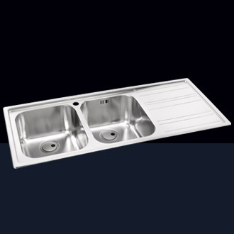 Double Bowl Sinks with Drainer