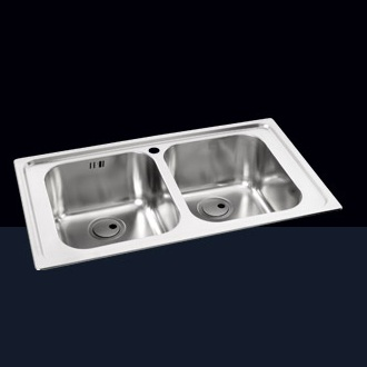 Double Bowl Sinks without Drainer