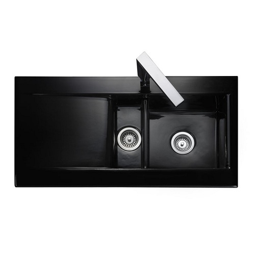 Inset Black Ceramic Kitchen Sinks