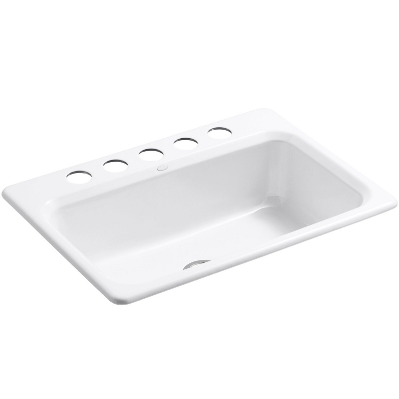 Kohler Bakersfield Cast Iron Undermount Kitchen Sink 5832 5u