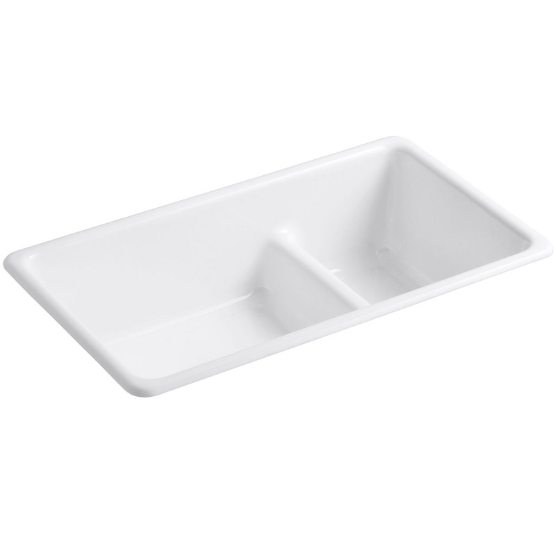 Kohler Iron/Tones Cast Iron Kitchen Sink with Smart Divide - 6625