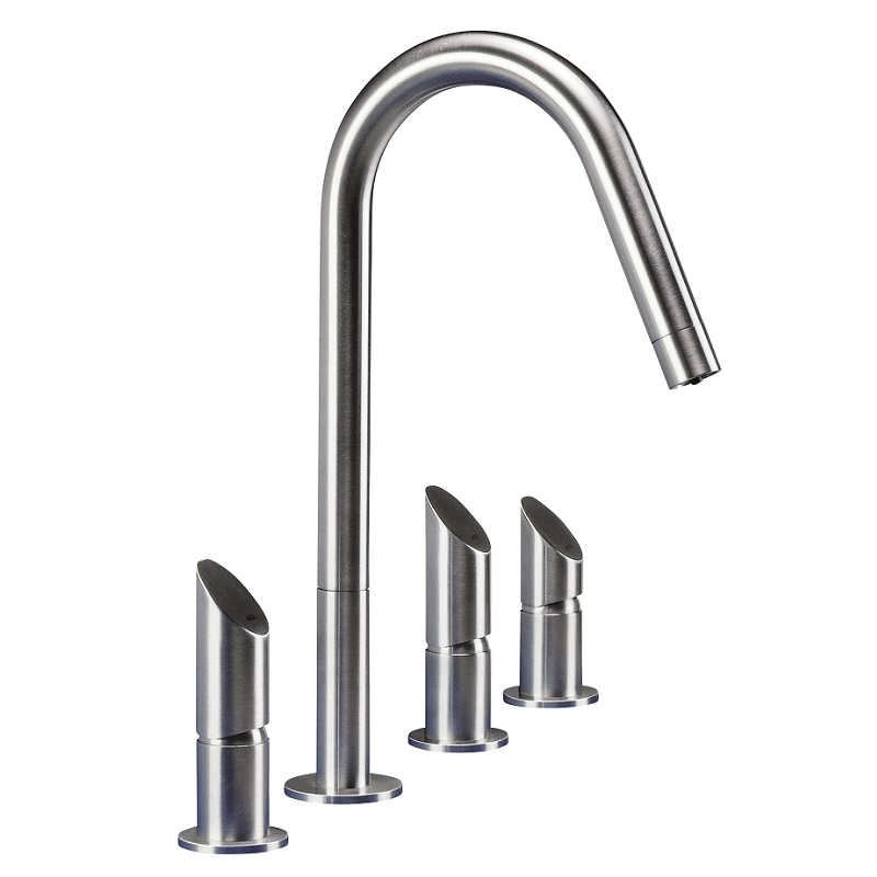 Mgs T45 Df Stainless Steel Mains And Filtered Water Tap
