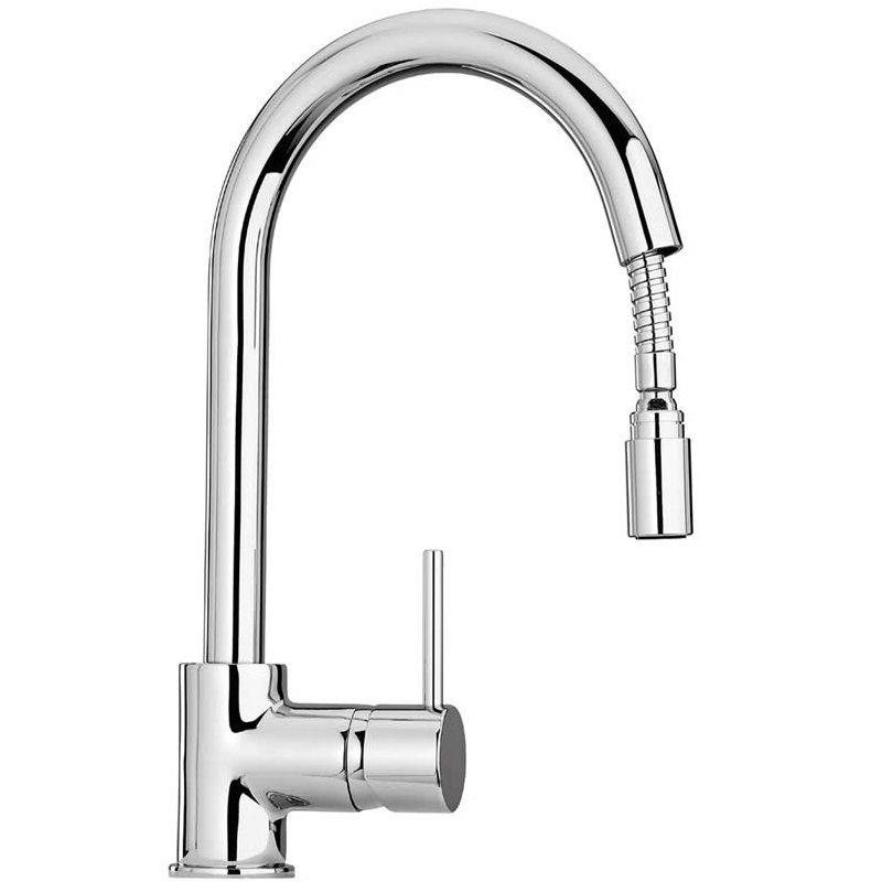 White Kitchen Mixer Tap monda kitchen tap with riser and pan filler medium image. find