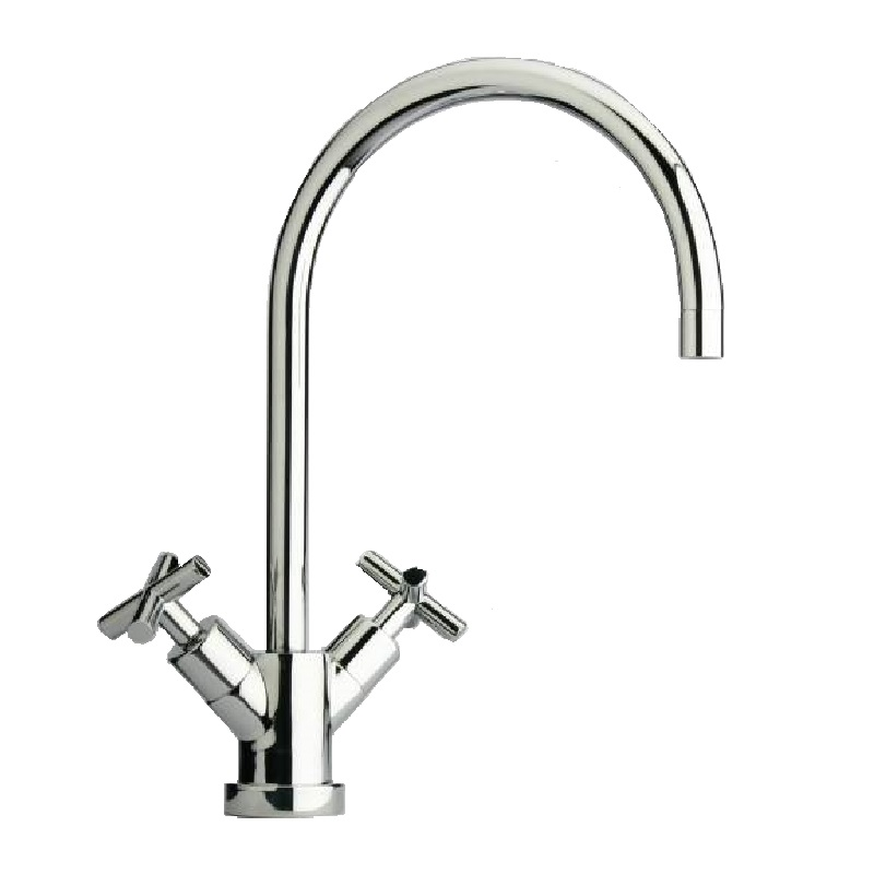 Paini One Tap Hole Cross Lever Kitchen Mixer Tap