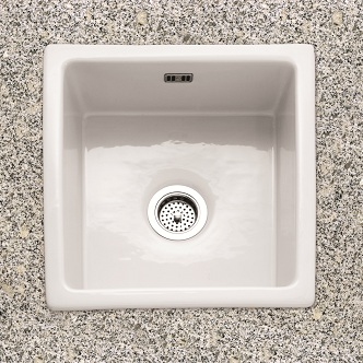 Single Bowl No Drainer Inset Ceramic Kitchen Sinks